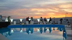 Atardecer desde nuestra piscina / Sunset by our pool