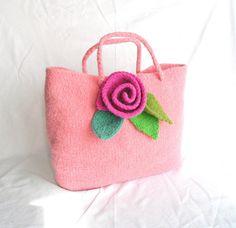 Felt Rose Bag Knitting