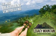 Legacy Mountain Ziplines in Pigeon Forge is the latest attraction in the Smoky Mountains, offering family entertainment and excitement to Pigeon Forge, Gatlinburg, and Sevierville, Tennessee. They are proud to be the first eco-friendly zipline adventure available in the Great Smoky Mountains area.