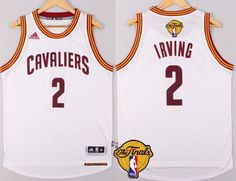 34882e81f Men s Cleveland Cavaliers  2 Kyrie Irving 2016 The NBA Finals Patch White  Jersey Kyrie Irving