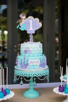 Purple, Mint and Aqua Mermaid Themed Birthday Party - The Celebration Society