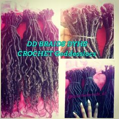 I love this protective style these are half crochet goddess locs that are custom made by me and half singles #Crochetgoddesslocs #goddesslocs