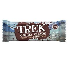 Free delivery and returns on all eligible orders. Shop Trek Protein Energy Bar Cocoa Chaos - Pack of 16 Bars. Protein Energy, Energy Bars, High Protein, Breakfast Cereal Bar Recipe, Gluten Free Protein Bars, Cocoa, Best Fat Burning Pills, 16 Bars, Vitamins For Energy