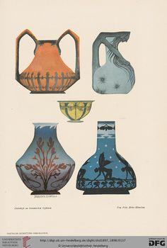 Dekorative Kunst & Pan Pan Faun Satyr Jugendstil