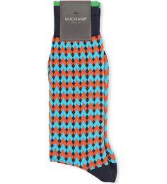 DUCHAMP - Diamond striped socks | Selfridges.com