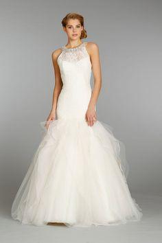 Beaded Ivory Lace Wedding Dress