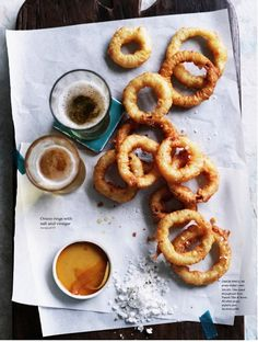 onions rings. styled by Vanessa Austin