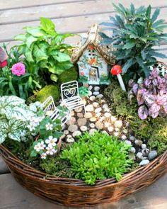 DIY fairy garden ideas are whimsical, pretty, and easy to make. Here are 20 DIY fairy garden ideas to try at home. Indoor Fairy Gardens, Mini Fairy Garden, Fairy Garden Houses, Miniature Fairy Gardens, Fairy Garden Plants, Fairy Gardening, Fairies Garden, Fairy Gardens For Kids, Gardening Tips