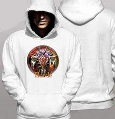 Mens World of warcraft hoodie design horde trendy plus size clothing