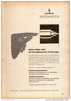 Original-Werbung/ Anzeige 1956 - SIEMENS - ca. 120 x 170 mm