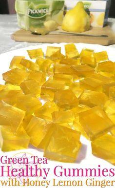 Green Tea Healthy Gummies with Honey Lemon Ginger - Anna Can Do It!