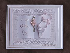 Hi folks. I have a Wedding card to share with you….Items used are Spellbinders grand rectangles, grand large labels, labels 29, shapabilities (Becca Feeken) ladies shoe, Joy crafts flourishes…