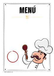 Menú del día para imprimir #Hosteleria #Restaurante #Bar