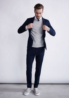perfectly tailored + preppy menswear suit style + fashion