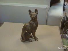 Статуэтка  корн рекс кот Литье бронза  120-70-50 (мм) купить в Челябинской области на Avito