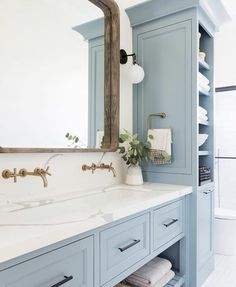 Home Decor Living Room Bathroom Inspiration // Studio McGee.Home Decor Living Room Bathroom Inspiration // Studio McGee Studio Mcgee, Beautiful Bathrooms, Modern Bathroom, Dream Bathrooms, Light Blue Bathrooms, Quirky Bathroom, Master Bathrooms, Minimalist Bathroom, Small Bathrooms