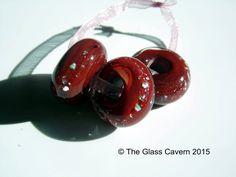 Handmade large hole borosilicate glass Lampwork beads by TheGlassCavern on Etsy