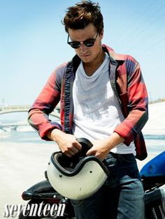 Josh Hutcherson from Seventeen photoshoot