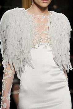 ~Flying Bird~  Fabric Feathers  Marchesa Spring Summer 2012 Fashion.