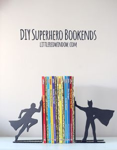 DIY Superhero Bookends for the comic book lover in your life…
