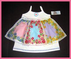 Josiekats Trunk Odod Boutique Custom Shabby Hankie Roses Dress 2T 2T 3T 4T | eBay
