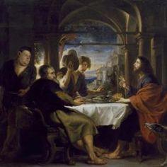 Rubens, Pedro Pablo - Colección - Museo Nacional del Prado - La cena de Emaús Óleo sobre lienzo, Hacia 1638 RUBENS, PEDRO PABLO