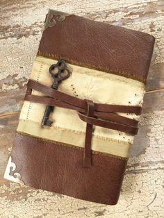 Golden Dreams: Leather journal, handmade