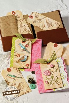 Hero Arts Cardmaking Idea: Birds & Roses