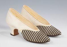 Designer: Francis O'Neill (American) Date: 1920 Culture: American Medium: leather, metalEvening pumps