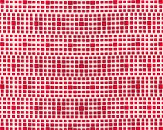 Feiner Popeline-Patchworkstoff SQUARED ELEMENTS, Quadrat-Optik, rot-gebrochenes weiß