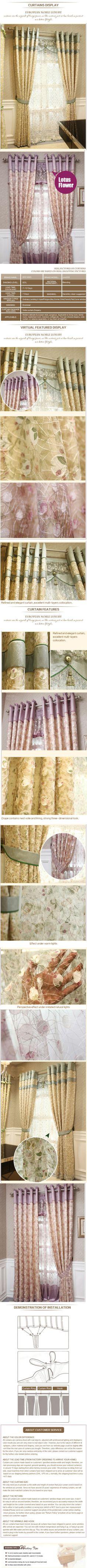 luxury window curtain - Korean Bird Nest $101  (55% off)