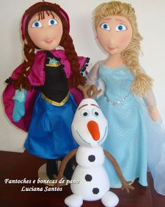 Bonecas de pano frosen Encomendas em fantochesebonecasdepano@gmail.com