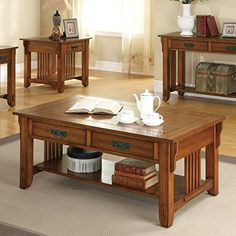 Coaster 2-Drawer Coffee Table with Shelf, Warm Brown -- Learn more by visiting the image link.
