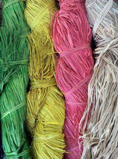 colorful raffia