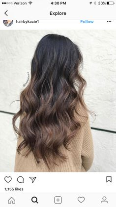 New 4 30 Hair Color Images Brown Hair Balayage, Balayage Brunette, Brunette Hair, Hair Highlights, Bayalage, Hair Lights, Light Hair, Hair Color For Black Hair, Dark Hair