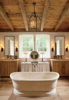 See how a beamed ceiling adds the perfect touch of rustic style to any room