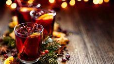 "Nutrisystem provides recipes for 5 delicious and booze-free ""mocktails"" for the holidays. Ponche Navideno, La Grenadine, Bubble, Le Gin, Pomegranate Juice, Mulled Wine, Holiday Cocktails, Holiday Snacks, Drink"
