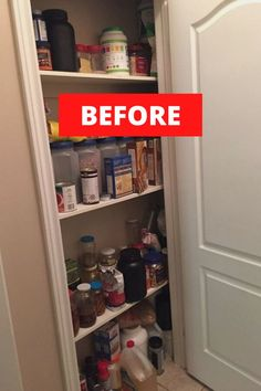 Whether you have a small pantry or closet, check out these pantry organization hacks and ideas that will make your life easier. These cheap ways to organize your pantry are easy and cheap if you're on a budget. So check out these 21 best ways to organize your pantry. #pantryhacks #pantryorganization #pantrystorage Kitchen Organization Pantry, Pantry Storage, Bathroom Organization, Organization Hacks, Organized Pantry, Kitchen Pantry, Ikea Pantry, Pantry Ideas, Small Pantry Cabinet
