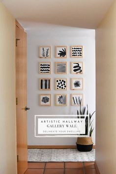 Learn how to create a gorgeous Artistic Hallway Gallery Wall using simple wooden blocks and paint. Add simple black paint and modern patterns to bring a creative, fresh and unique look to your home! Delineate Your Dwelling Trendy Home Decor, Diy Home Decor, Modern Patterns, Hallway Walls, Color Crafts, Wooden Blocks, Inspired Homes, Simple House, Classroom Decor