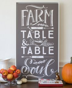 """Farm to table and table to soul"" canvas print by @lindsay_letters"