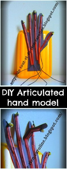 Cool Halloween craft to learn about the anatomy of the hand! Pull the string and watch the fingers move!