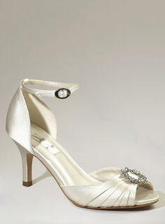 6cddac2916d Ivory Dakota Ring Trim 2 Part Court Shoe Bridal Shoes