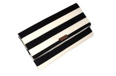 Large Custom Black and White Striped Clutch by EmmaLynDesign