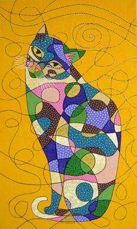 Cats In Art by Turkish artist, Sedef Yılmabaşar Ertugan