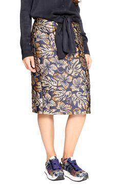 Hibiscus printed Skirt designed by Prada