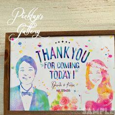 ■ウェルカムボード台紙■A2サイズ■水彩調■ 似顔絵 プレゼント ウェルカムボード 結婚式 記念日