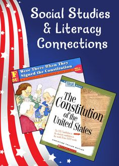 Corkboard Connections: Social Studies and Literacy Connections - Two great informational texts and two freebies to use on Constitution Day! Its a good lesson for connecting literacy and social studies 3rd Grade Social Studies, Social Studies Classroom, Social Studies Activities, Teaching Social Studies, Teaching History, History Education, Classroom Community, History Class, Constitution Day