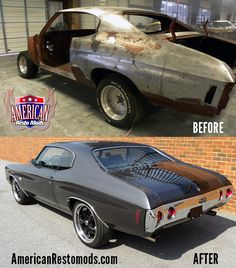 1971 Chevelle SS Before and After