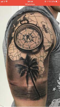 Tattoos for Men Calf . Tattoos for Men Calf . Pin On Design Tattoo Ideas Map Tattoos, Forearm Tattoos, Sleeve Tattoos, Tatoos, Temporary Tattoo Printer, Grief Tattoo, Karten Tattoos, Pirate Ship Tattoos, Tropical Tattoo
