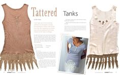 Altered Couture - tattered tank tops